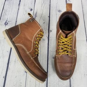 CREVO | Buck moc toe lace-up ankle boot